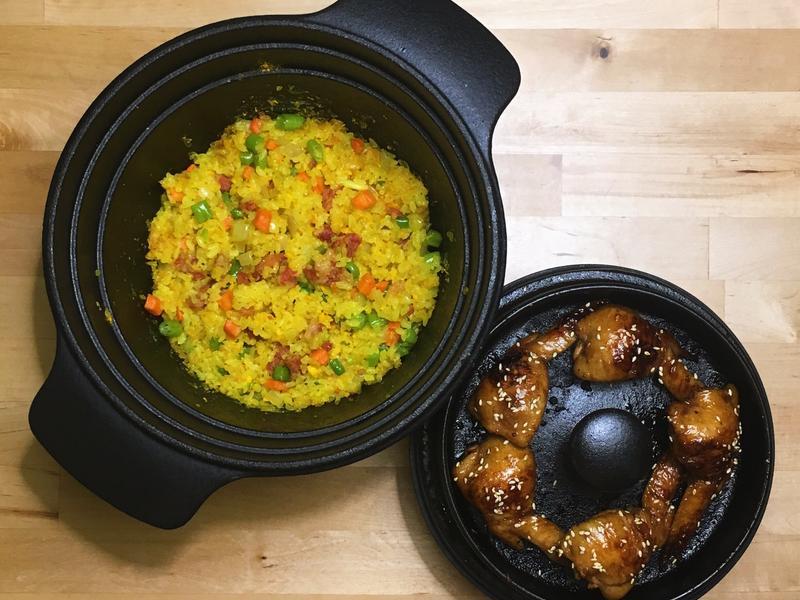 薑黃炒飯+先羽仙餃子
