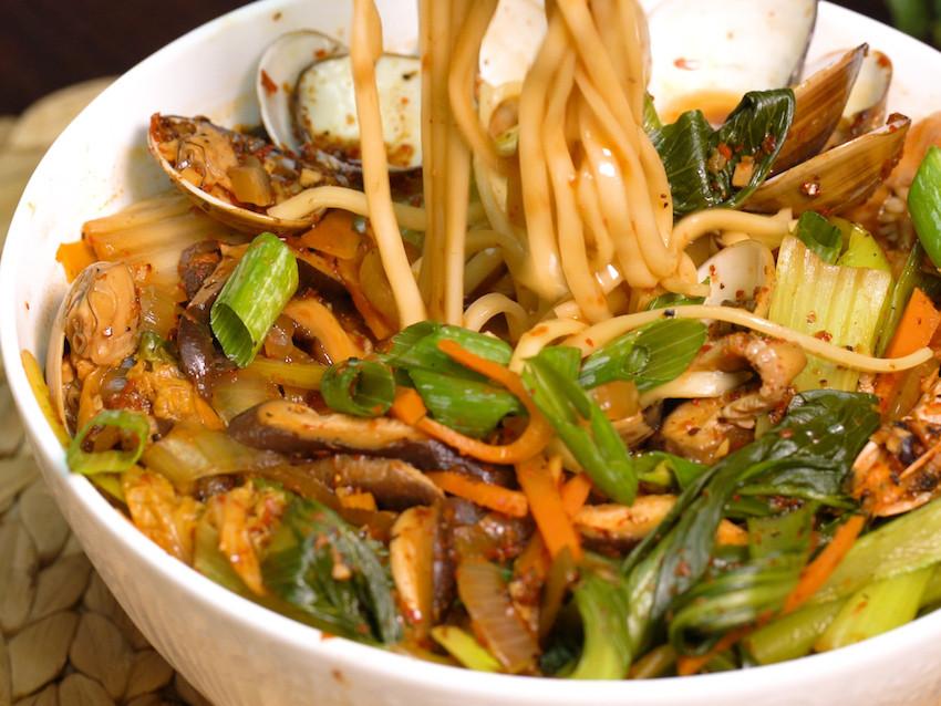 海鮮炒碼麵