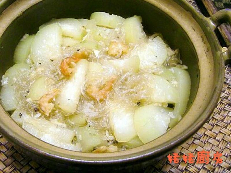 節瓜蝦米粉絲煲