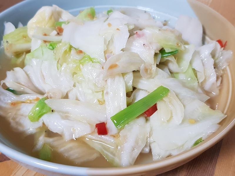辣炒蝦皮高麗菜