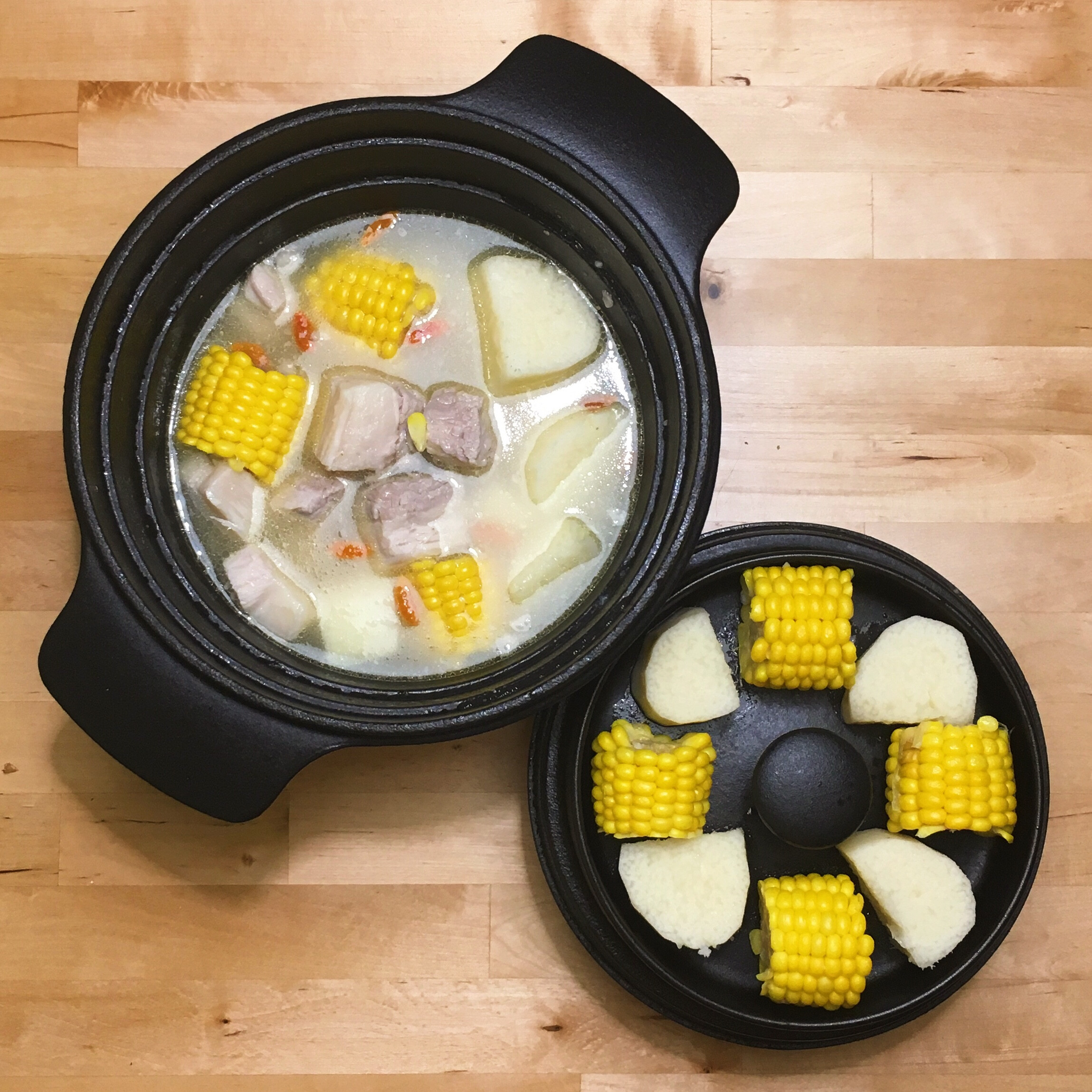 山藥玉米排骨湯