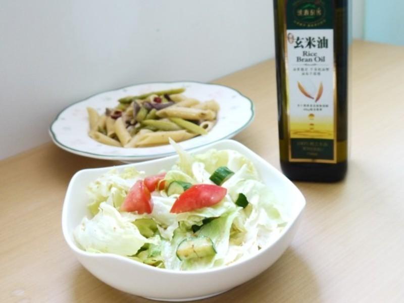 【黃金玄米油清爽料理】和風沙拉