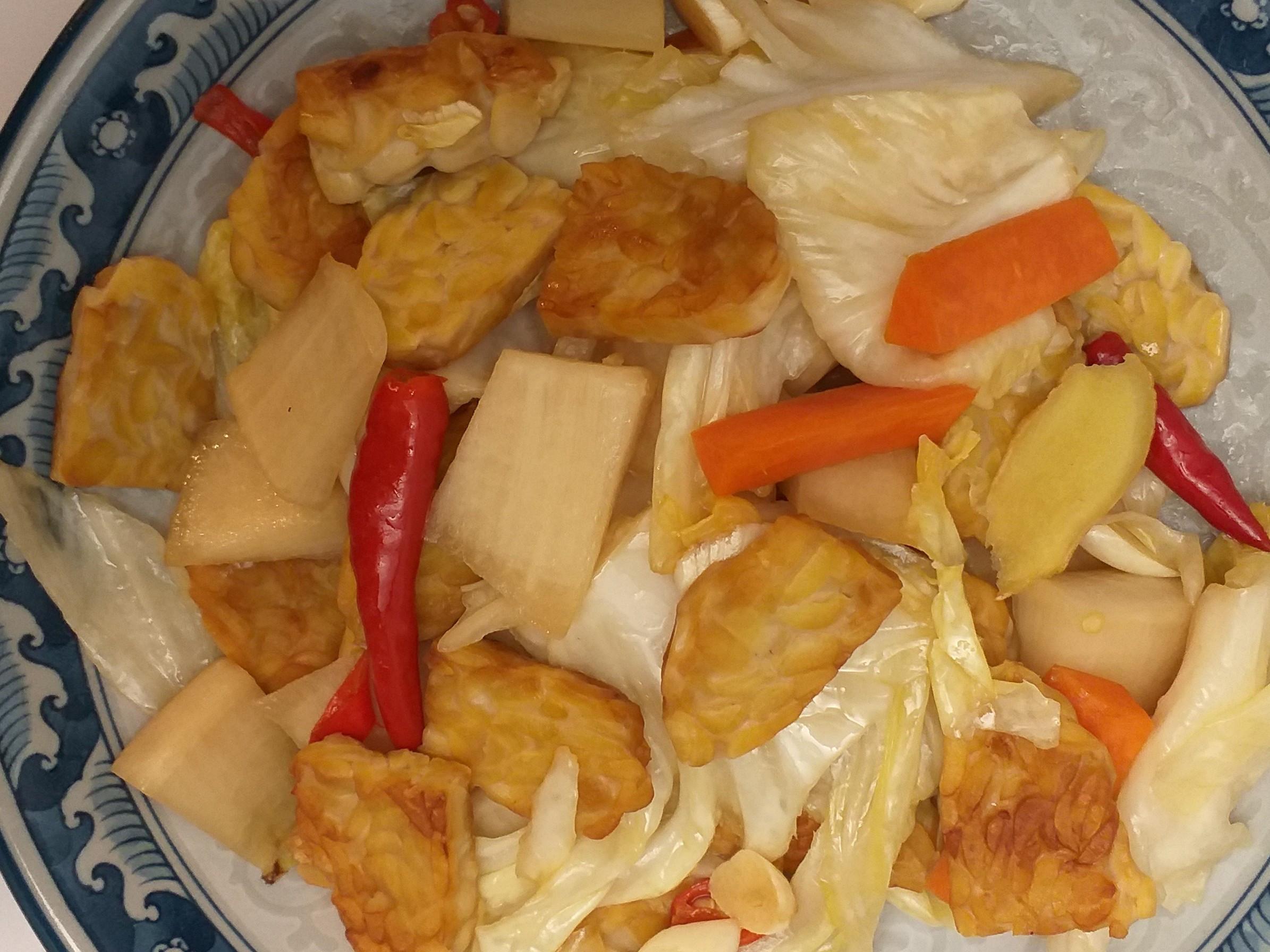 四川泡菜炒天貝