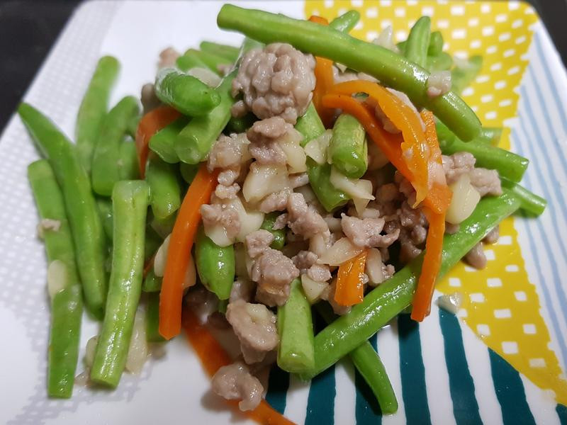 記憶中的便當菜:炒四季豆