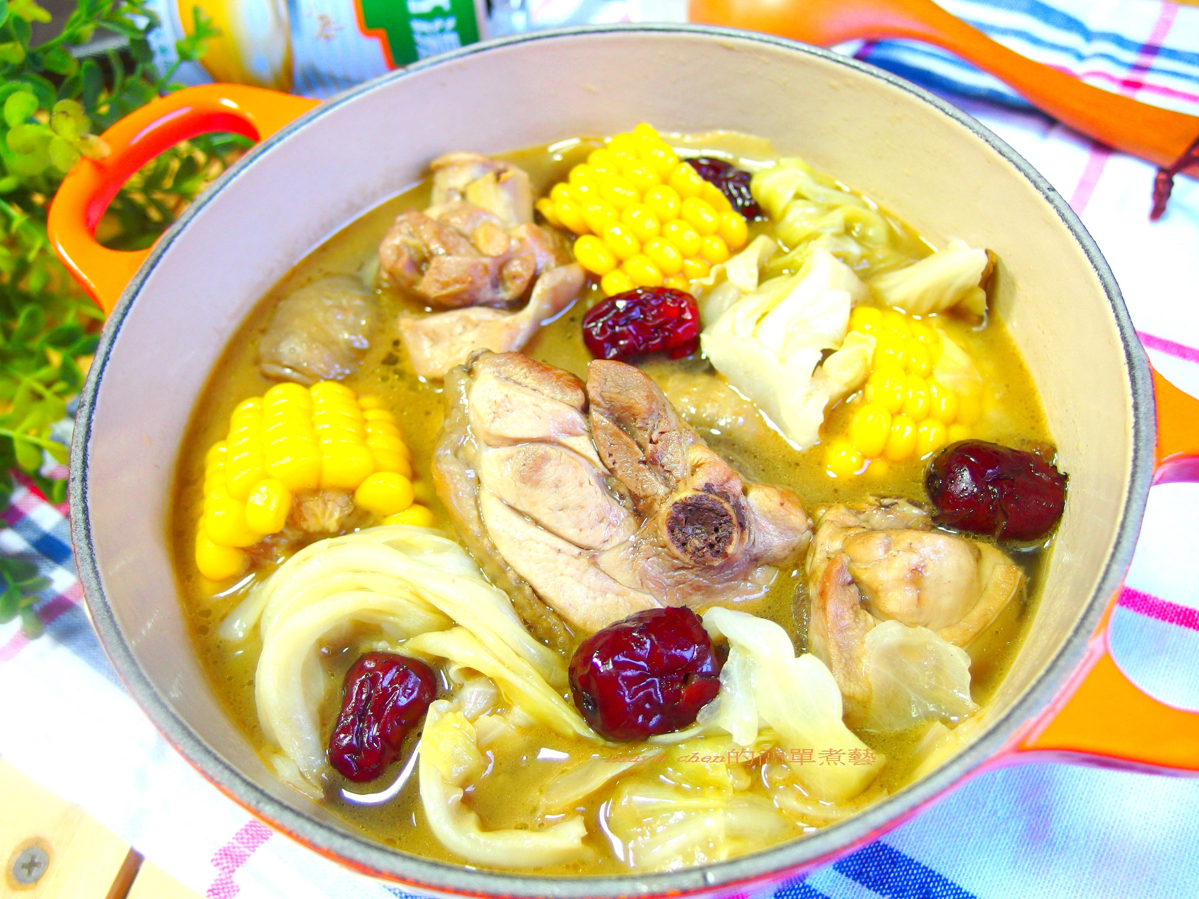 玉米麻油雞 (高湯版 )