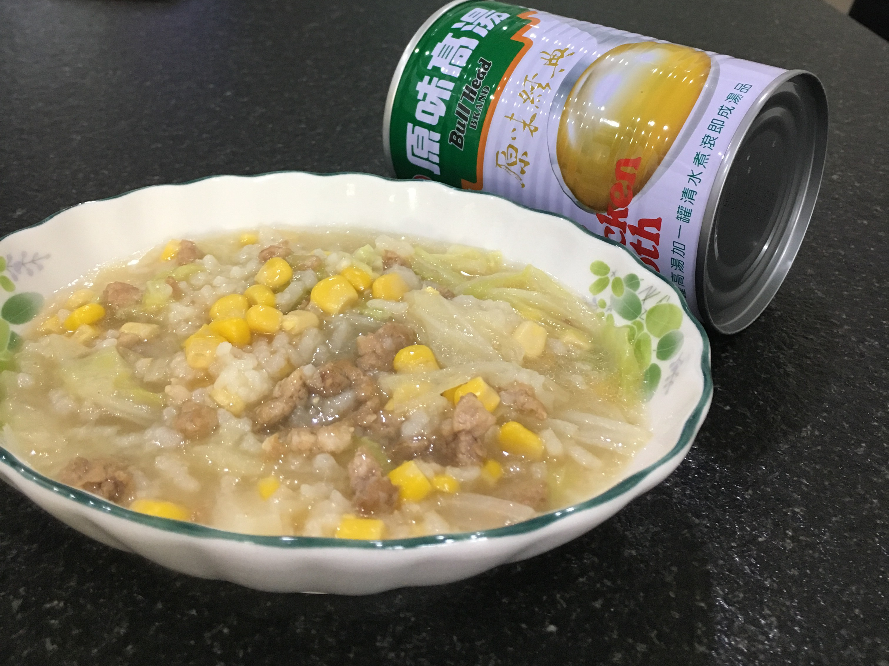 高麗菜玉米粥