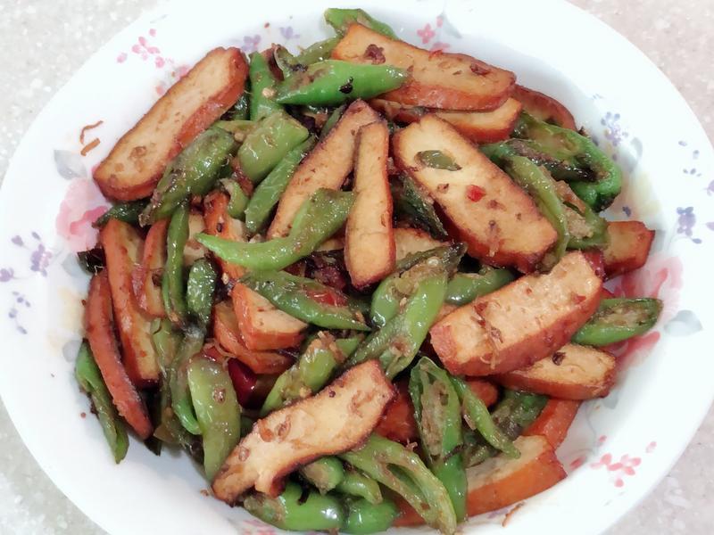 糯米椒炒豆乾