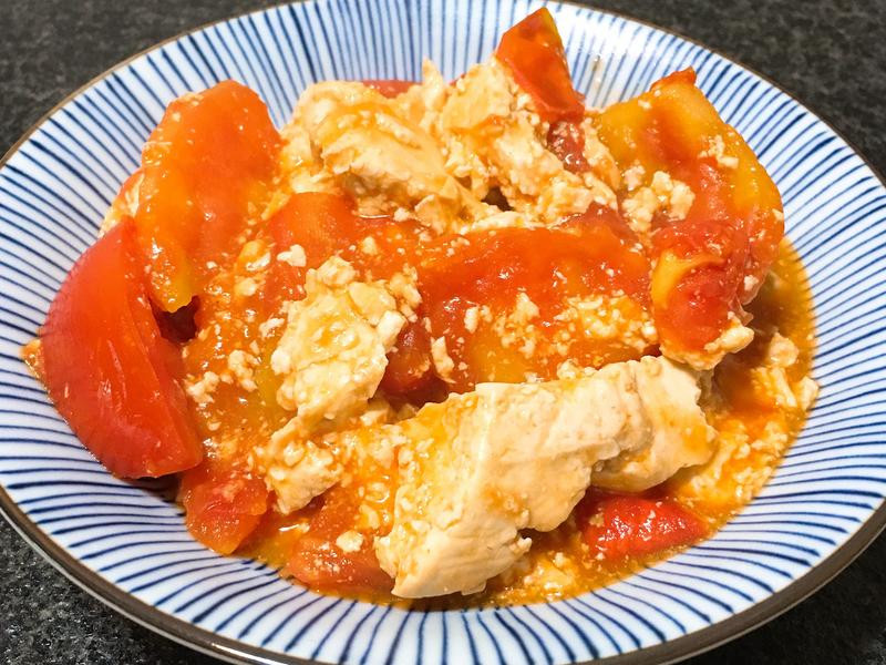 蕃茄臭豆腐~全素