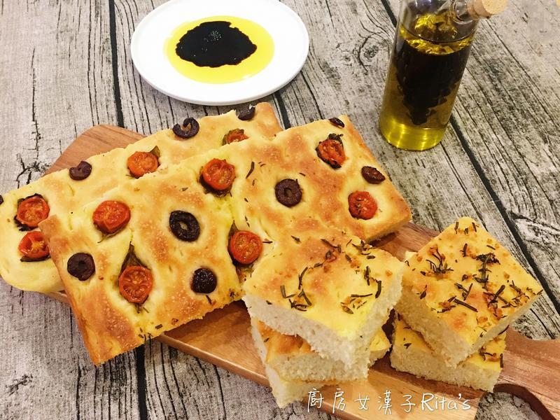 佛卡夏香草麵包(Focaccia)