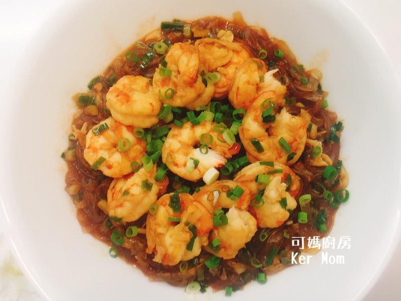 可媽廚房 五分鐘上菜 超簡單鮮蝦粉絲煲