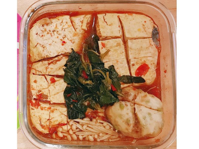 清蒸麻辣臭豆腐