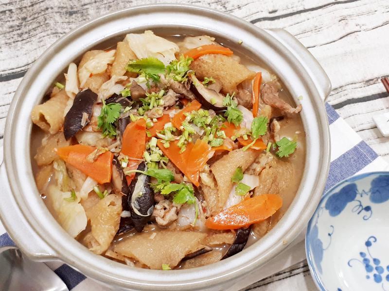 干貝醬膨皮滷白菜