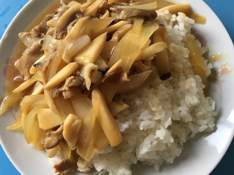 洋蔥豬肉燴飯