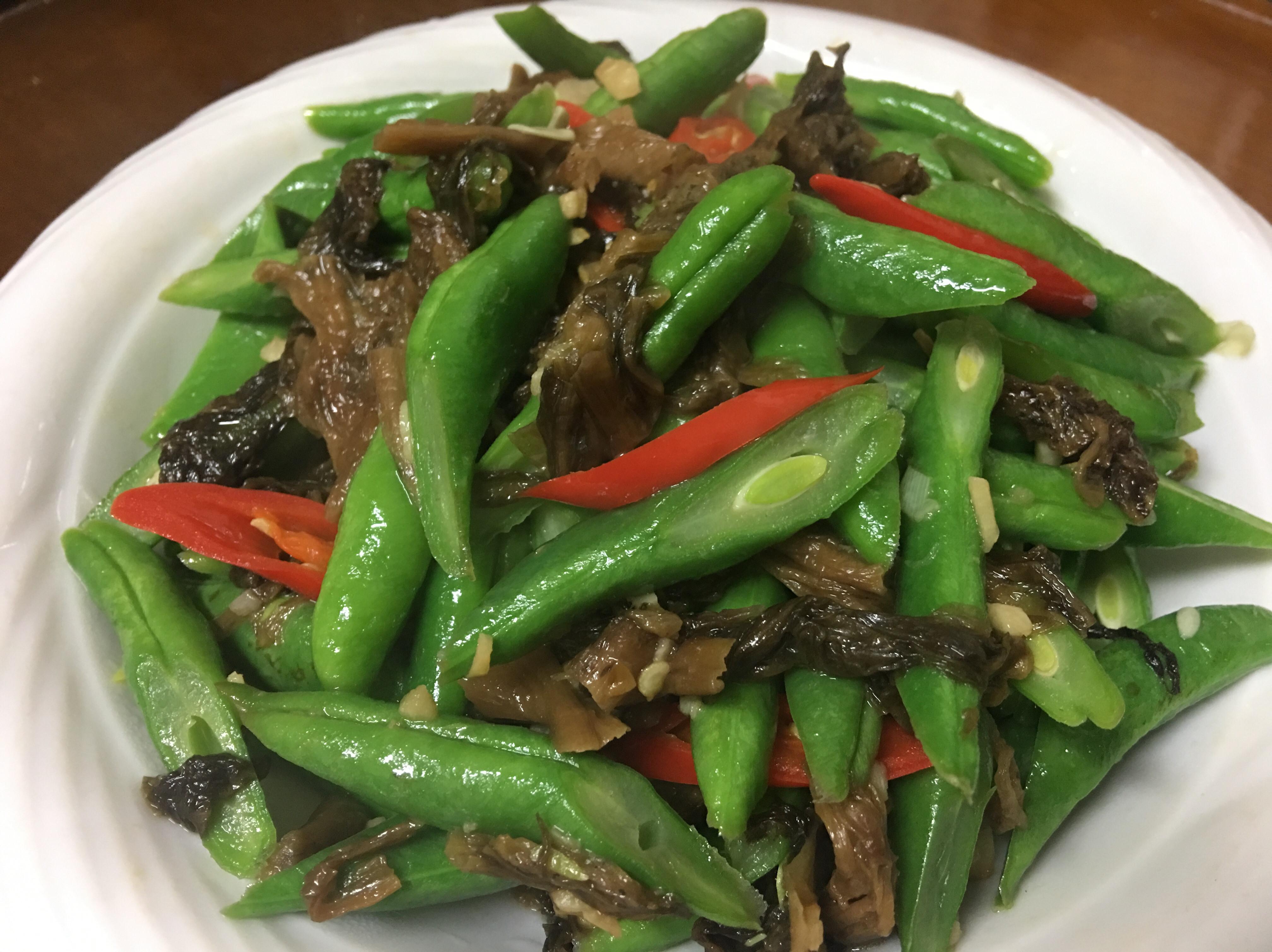 熱炒梅乾菜粉豆~下飯的便當菜