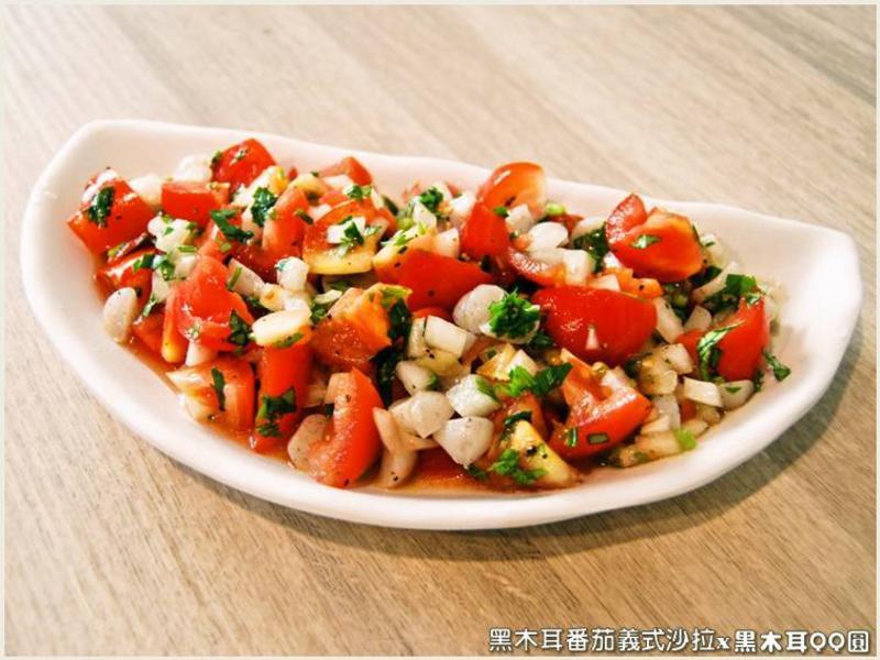 黑木耳番茄義式沙拉.柯媽媽の植物燕窩