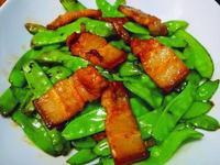 乾煸五花炒碗豆