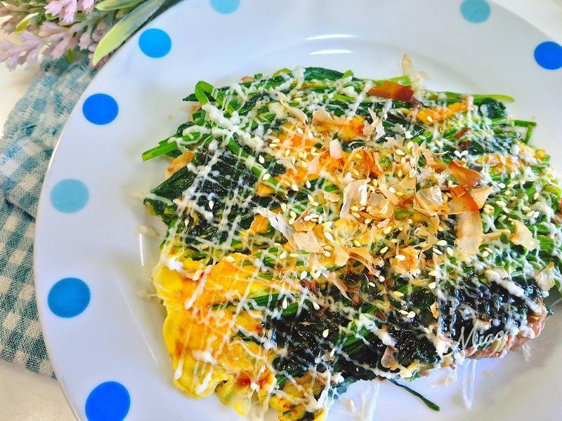 菠菜煎餅大阪燒