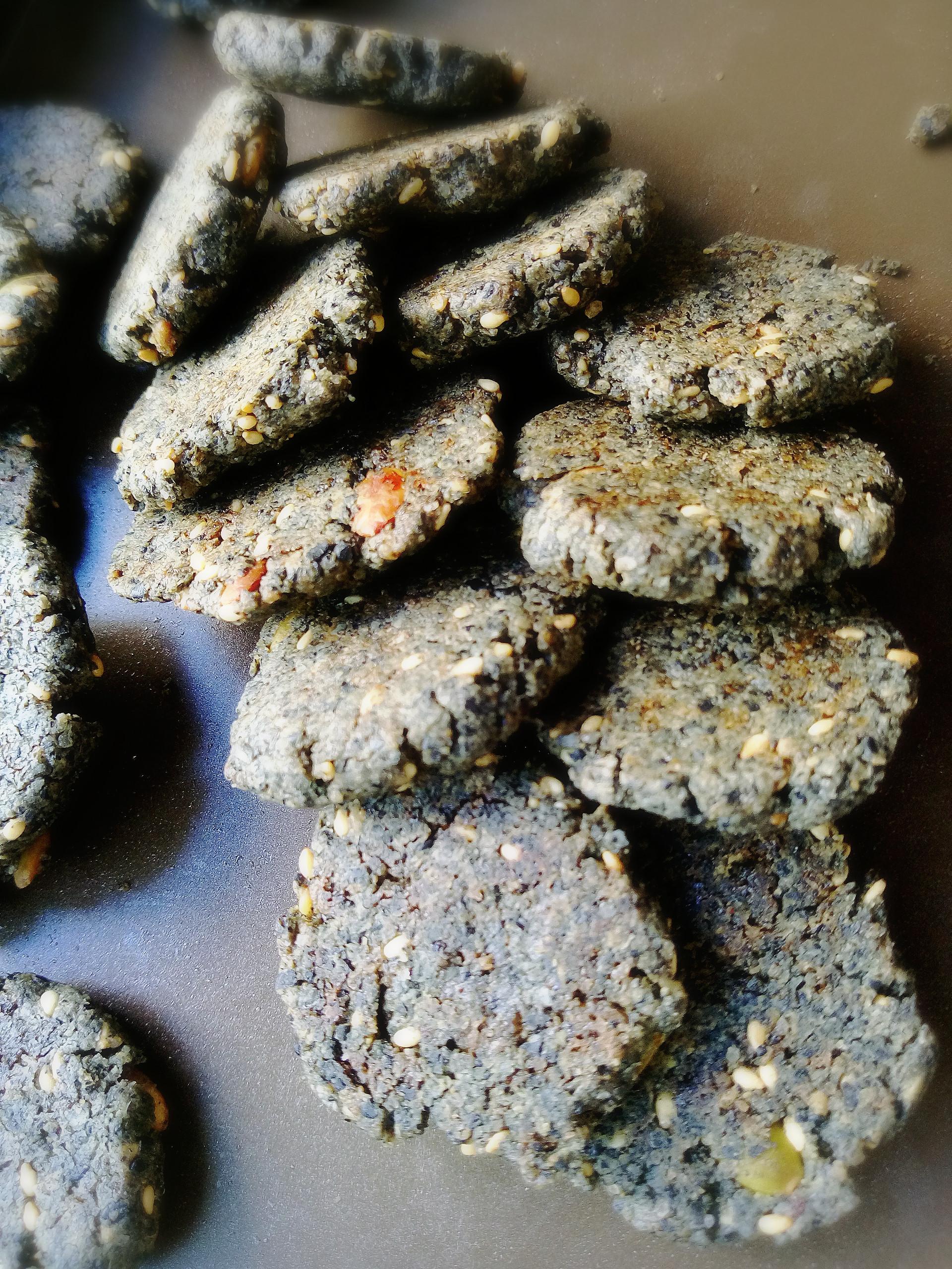 養生黑芝麻餅乾 (無奶油無蛋)