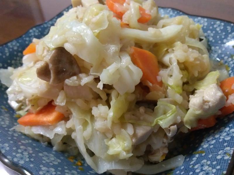 紅蘿蔔高麗菜飯
