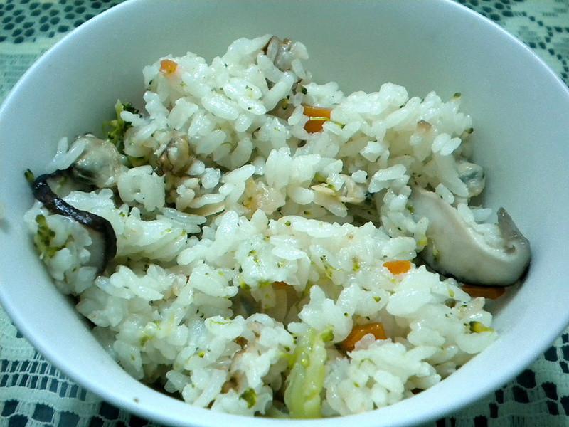 蛤蜊野菇花椰菜炊飯