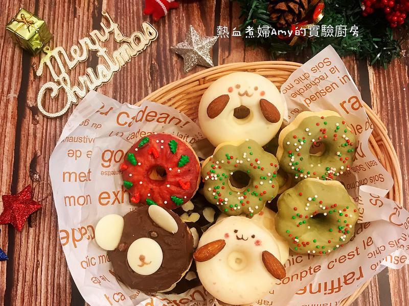 🎄免油炸版聖誕波提甜甜圈