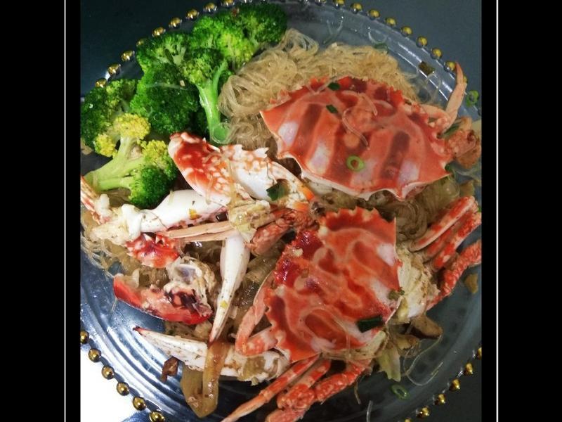 沙茶螃蟹粉絲煲