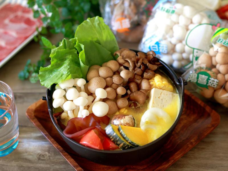 奶香菇菇南瓜鍋