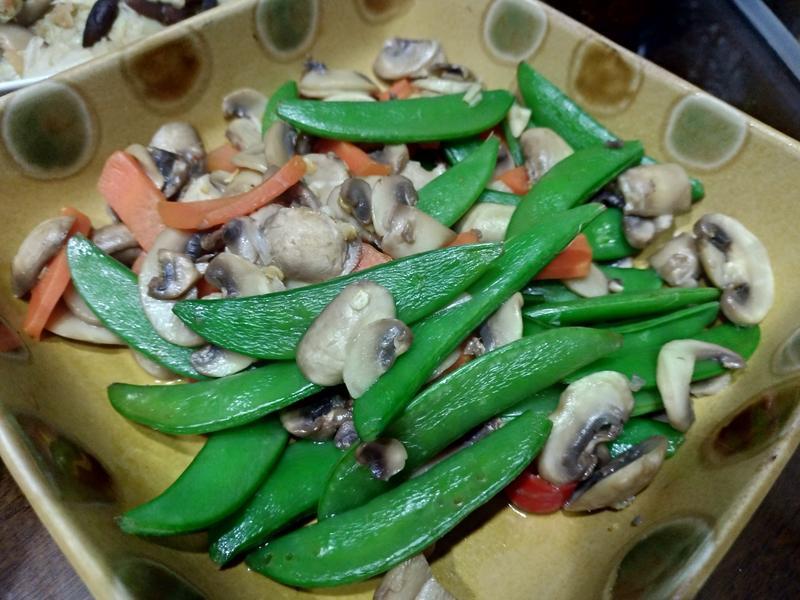 菇菇愛甜豆