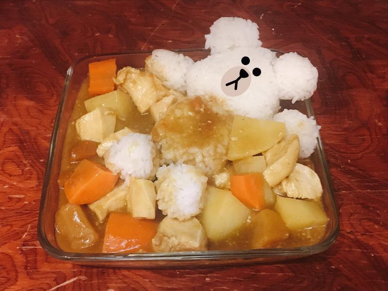 雞肉咖哩飯(大同電鍋)