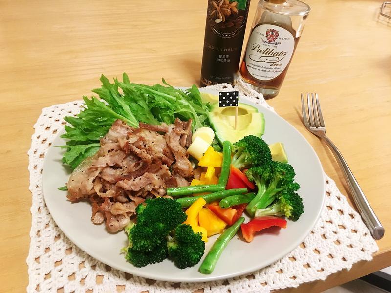 [生酮低醣餐]酥脆豬五花酪梨沙拉