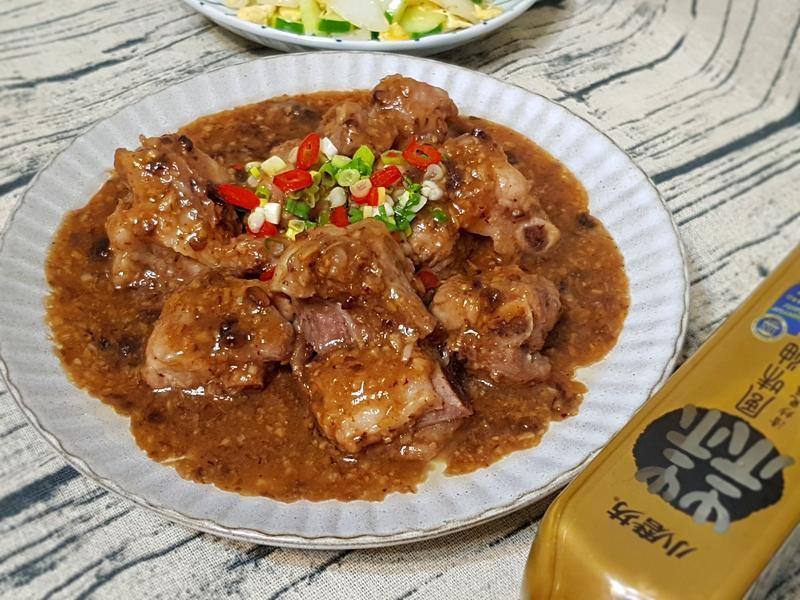 蒜茸豆豉小排(電鍋料理)