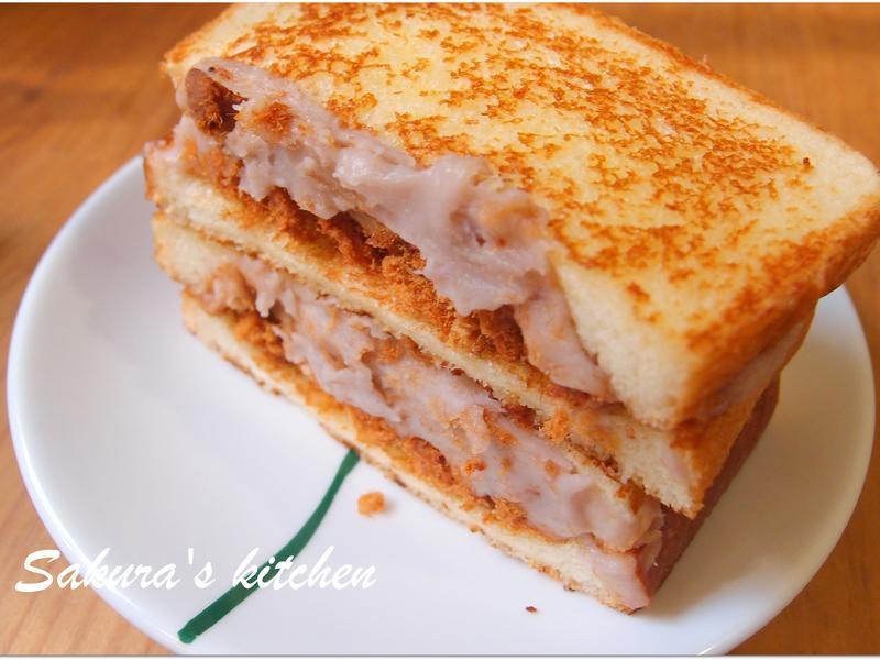 ♥我的手作料理♥ 芋泥三明治