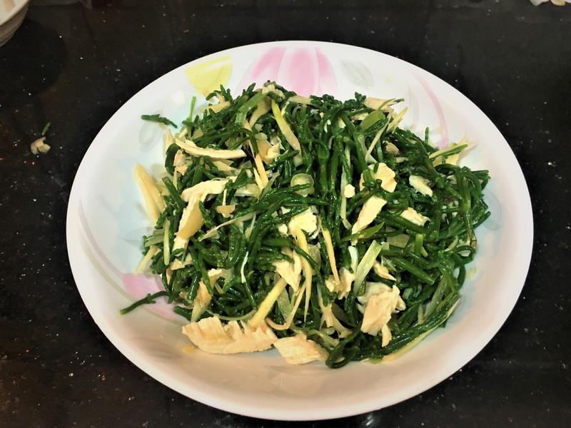 涼拌雞絲海蘆筍