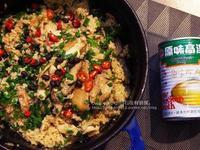 港式風味的豆豉雞腿鍋飯