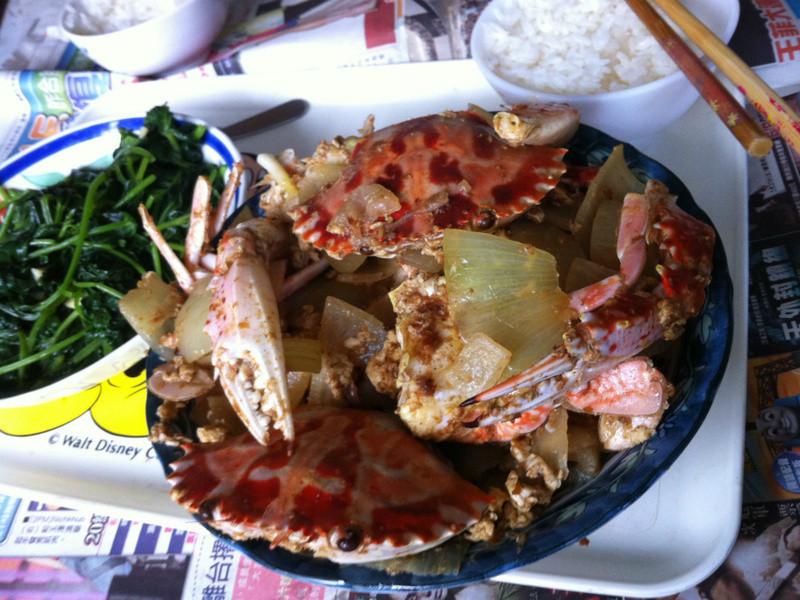 洋蔥炒螃蟹