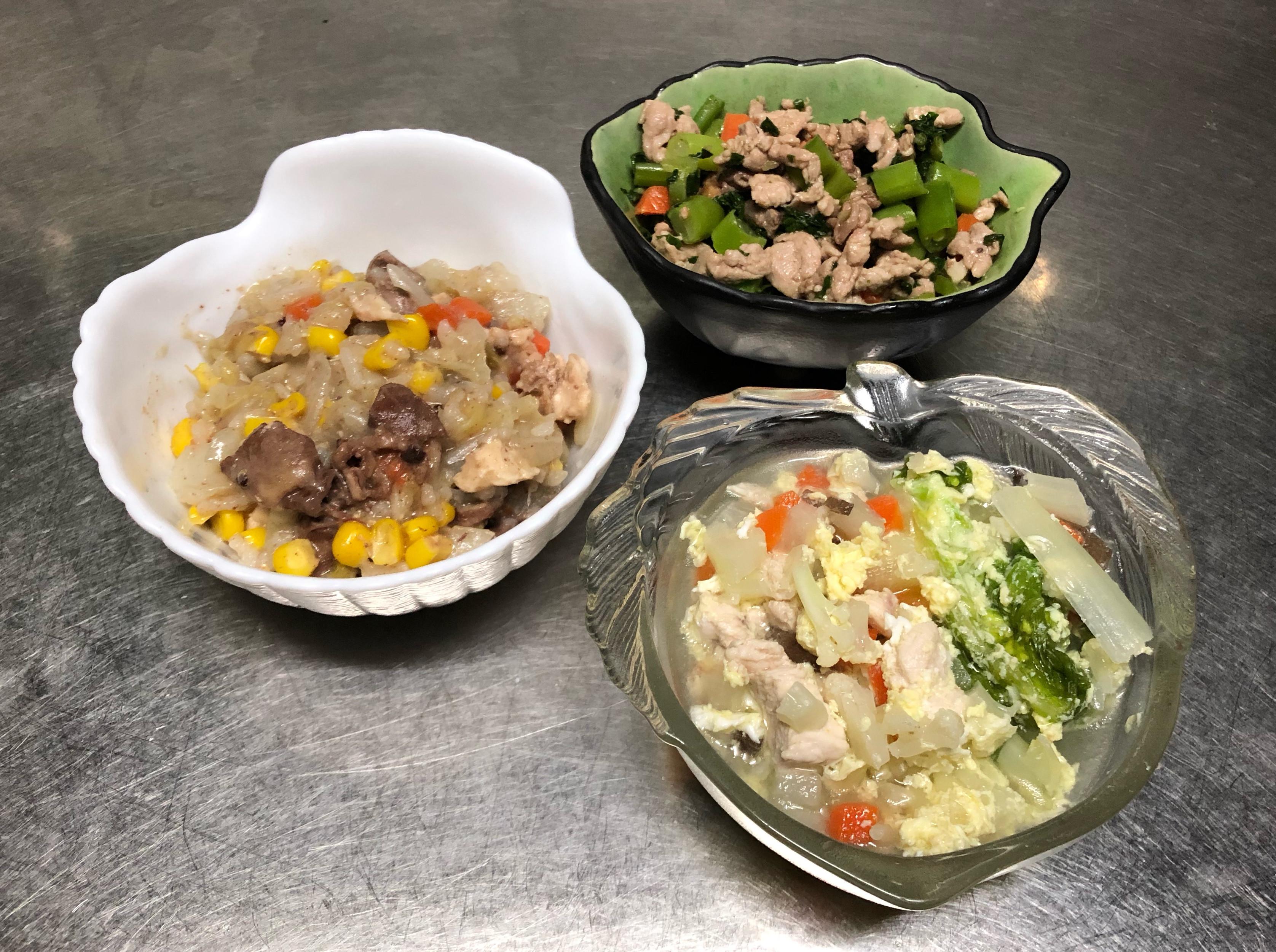 鮮食🐾麻油雞心飯 芥蘭炒肉 蔬菜蛋花湯