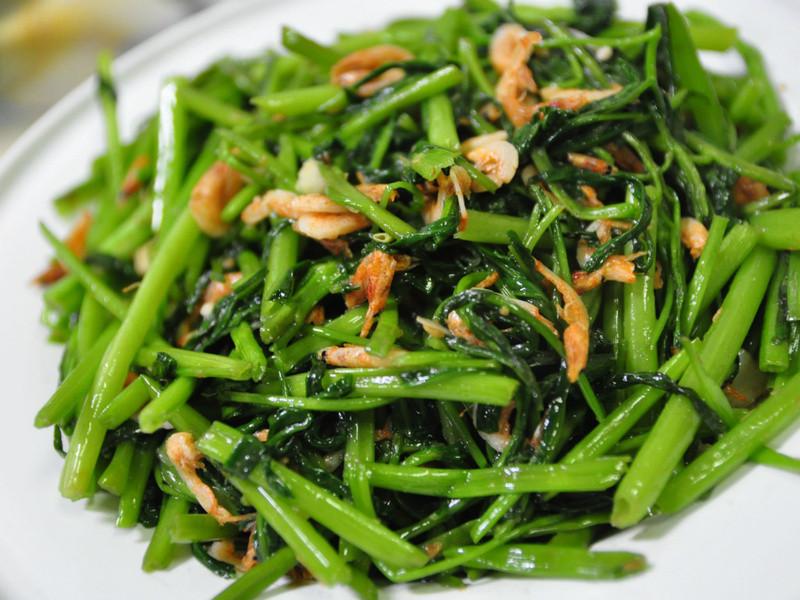 沙茶櫻花蝦炒空心菜