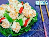 家常菜~豆苗蝦仁