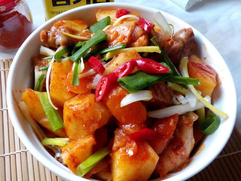 韓式辣燉雞-Dakdoritang