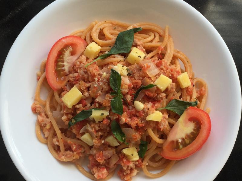 切達起司番茄肉醬義大利麵
