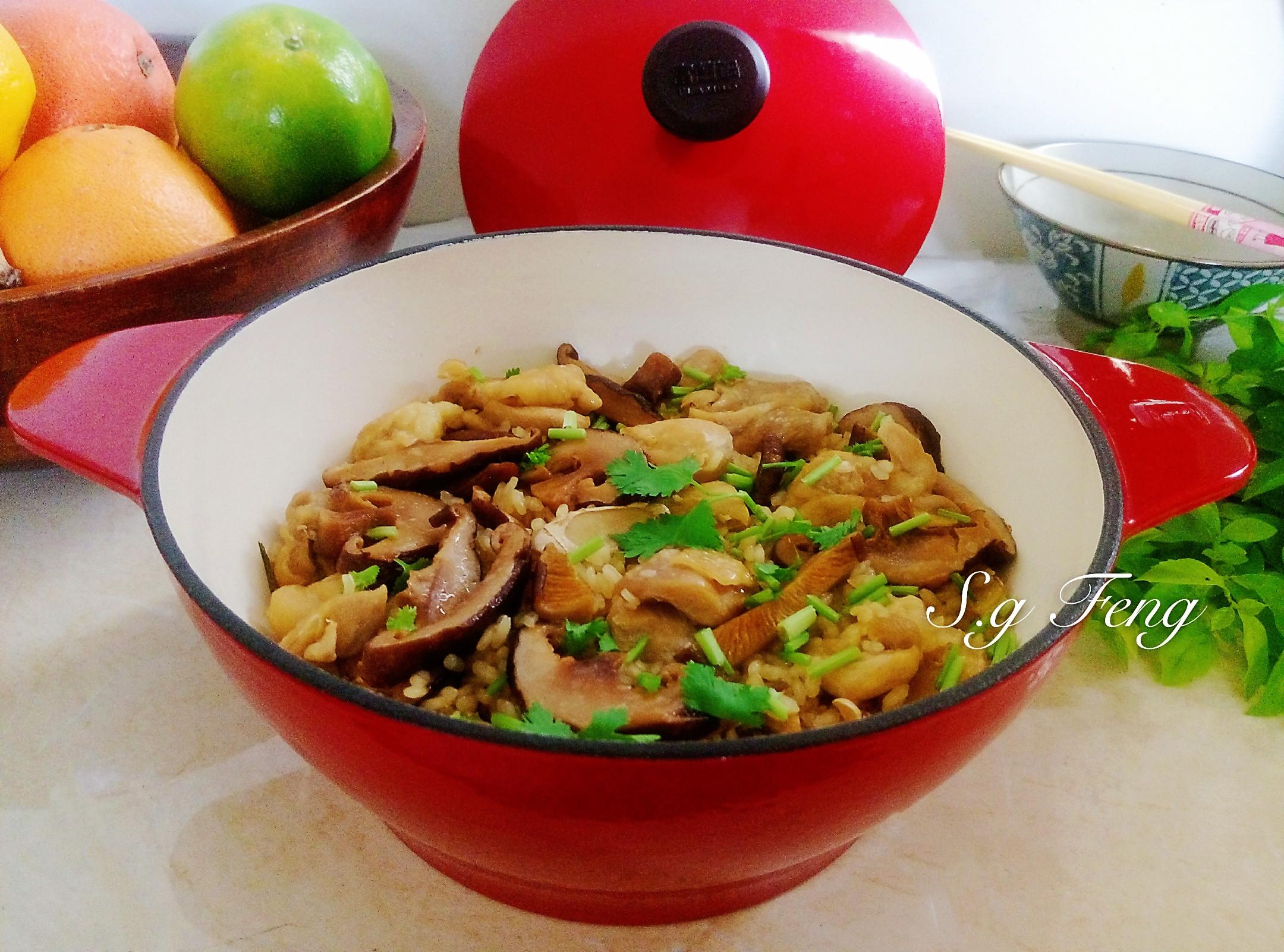 香菇麻油雞飯(鑄鐵鍋版)