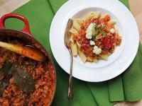 花椰菜蕃茄肉醬義大利麵