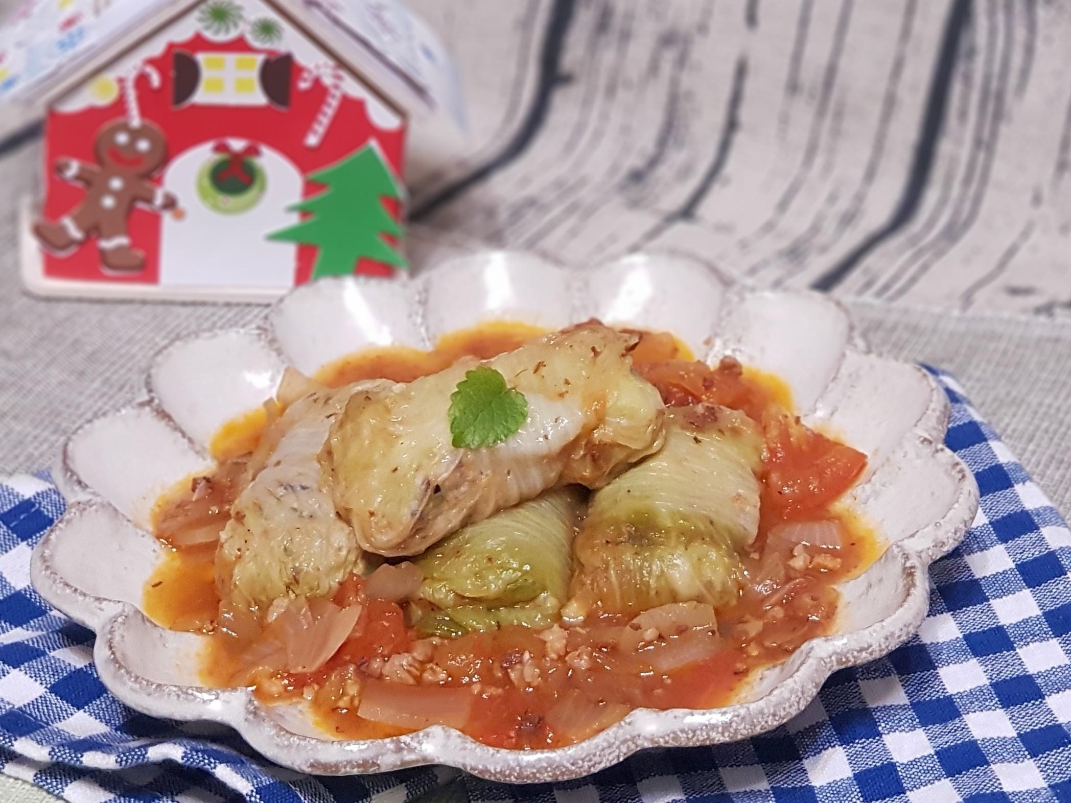 義式蕃茄燉煮白菜捲