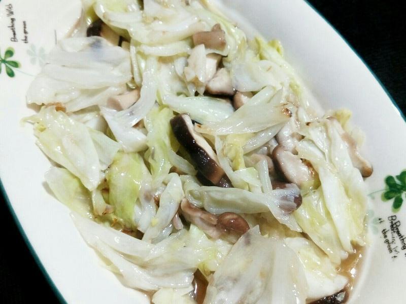 高麗菜炒香菇