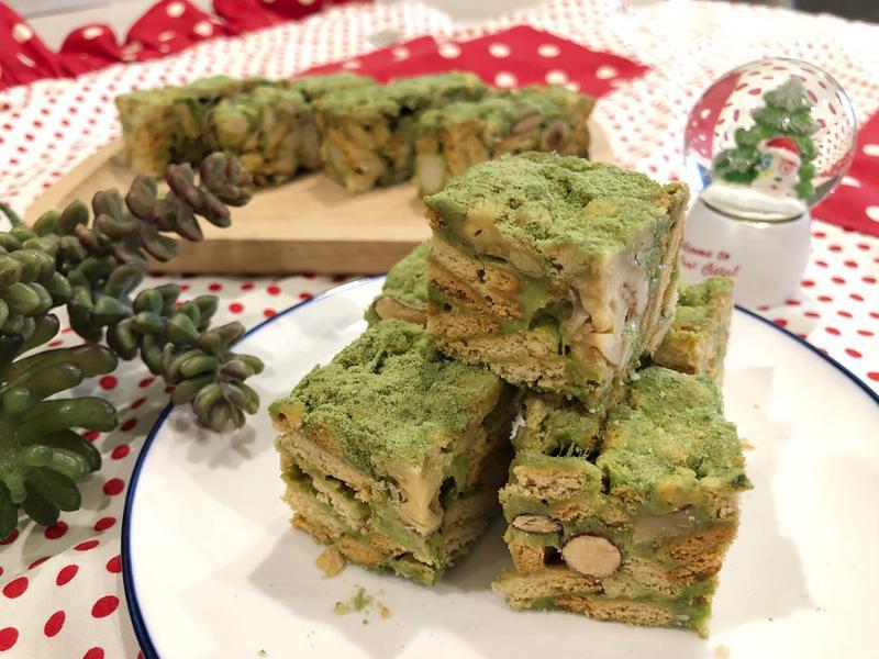 抹茶雪花酥❄️綠色耶誕雪