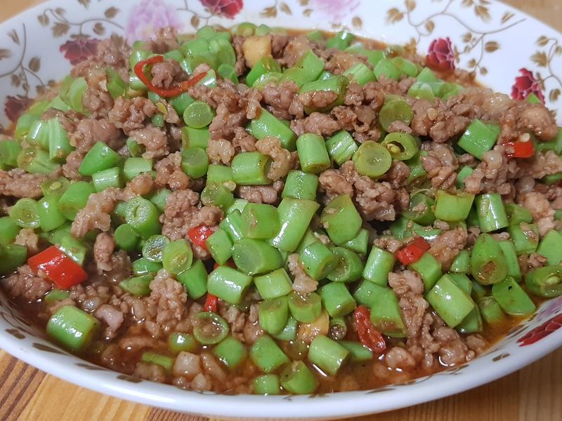 四季豆肉末