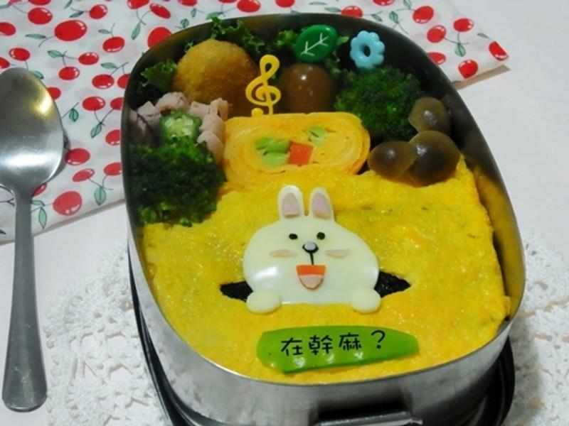 [親子食堂]LINE公仔--小兔CONY便當