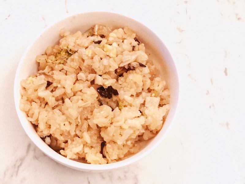 寶寶副食品~綜合營養菇菇飯