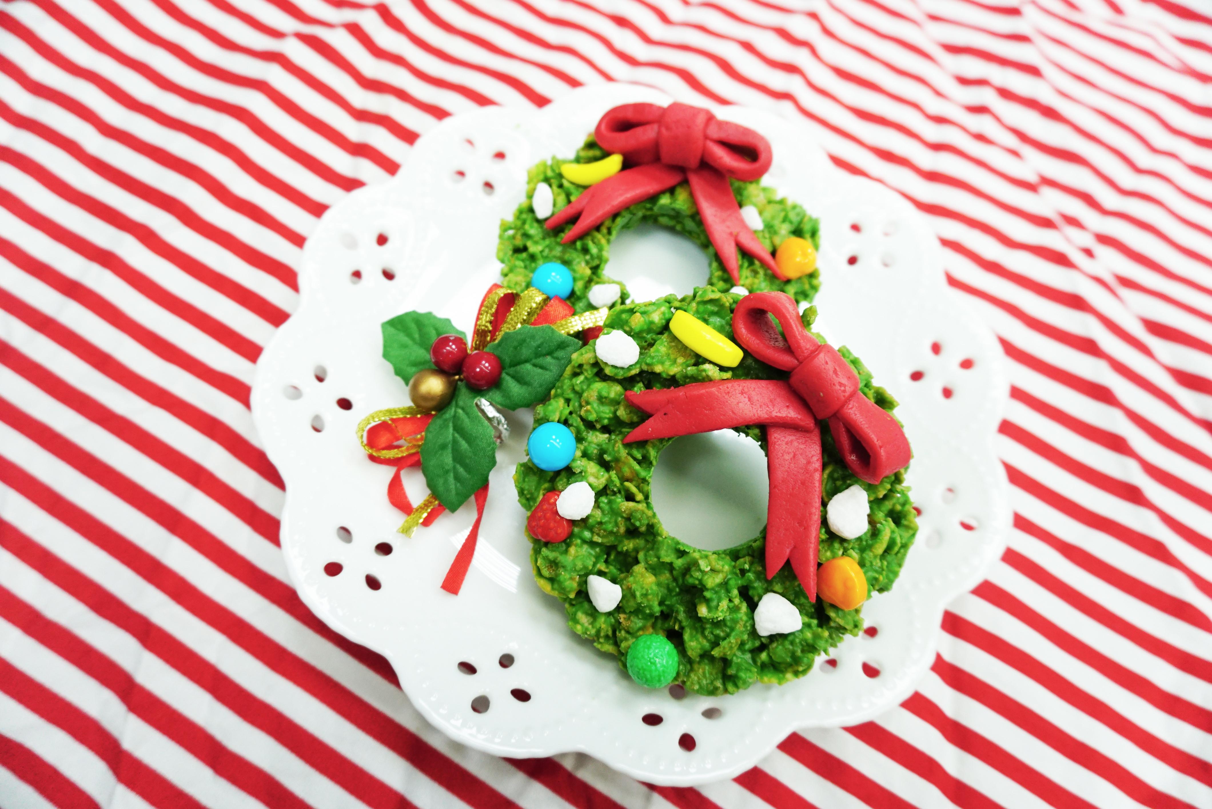 聖誕花環餅乾