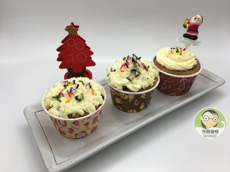 可可優格杯子蛋糕~ 聖誕節派對點心